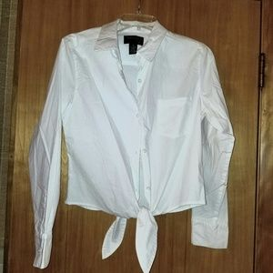 Country Shop vintage white button down shirt